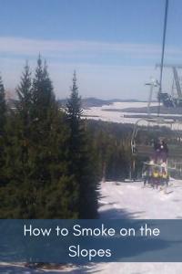 smoke weed snowboarding