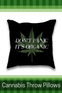 Cannabis Throw Pillows - Cannabis Home Decor