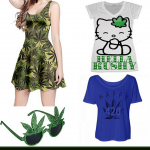 Funky, Cool and Chic Women's Marijuana Clothing and Accessories
