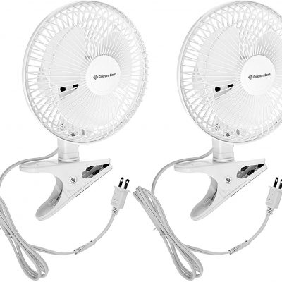 Comfort Zone 6-Inch Clip-On Fans